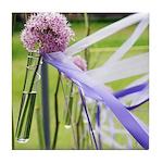 Lavender flower ball Tile Coaster