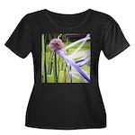 Lavender Women's Plus Size Scoop Neck Dark T-Shirt