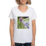 Lavender flower ball Women's V-Neck T-Shirt
