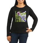 Lavender flower b Women's Long Sleeve Dark T-Shirt