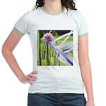 Lavender flower ball Jr. Ringer T-Shirt