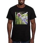 Lavender flower ball Men's Fitted T-Shirt (dark)