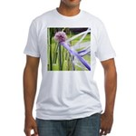 Lavender flower ball Fitted T-Shirt