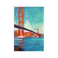 Golden Gate Bridge Rectangle Magnet (10 pack)