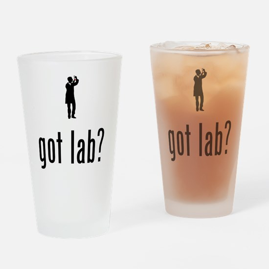 Lab Technician Drinking Glass