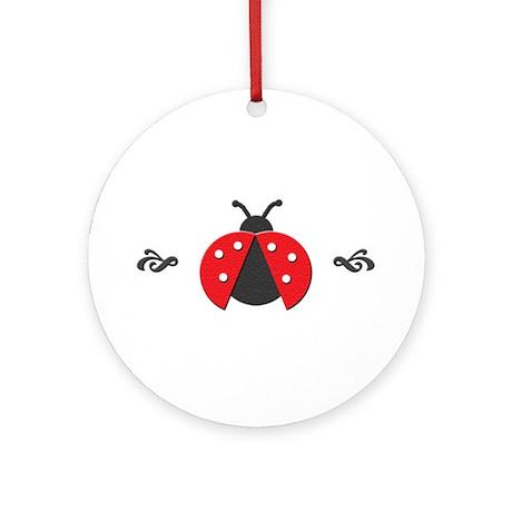 Red Ladybug Ornament (Round)