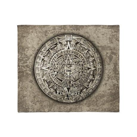 Aztec Calendar Throw Blanket
