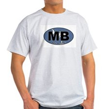 Myrtle Beach, SC Ash Grey T-Shirt