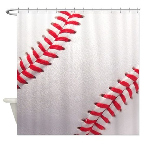 Baseball Sports Theme Shower Curtain By Inspirationzstore