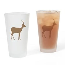 Brown Antelope Silhouette Drinking Glass