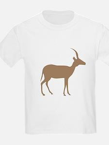 Brown Antelope Silhouette T-Shirt