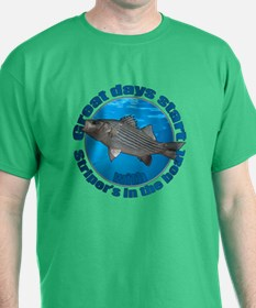 Great days start with stripers T-Shirt