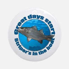 Great days start with stripers Ornament (Round)