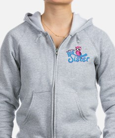 Girly Going to be a Big Sister Zip Hoodie