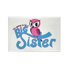 Girly Going to be a Big Sister Rectangle Magnet