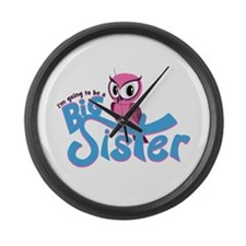 Girly Going to be a Big Sister Large Wall Clock