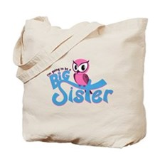 Girly Going to be a Big Sister Tote Bag