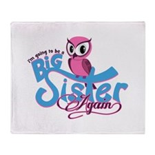 Going to be a Big Sister Again! Throw Blanket