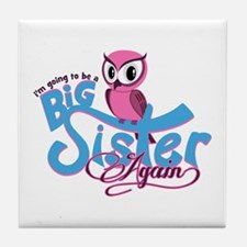 Going to be a Big Sister Again! Tile Coaster