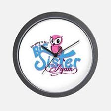 Going to be a Big Sister Again! Wall Clock