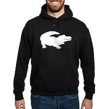 White Alligator Silhouette Hoodie