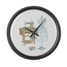 Dressmaker Large Wall Clock
