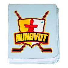 Nunavut Hockey Flag Logo baby blanket