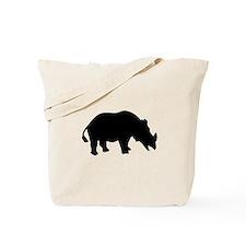 Black Rhino Silhouette Tote Bag
