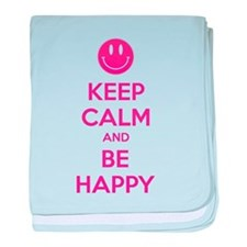 Keep Calm And Be Happy baby blanket