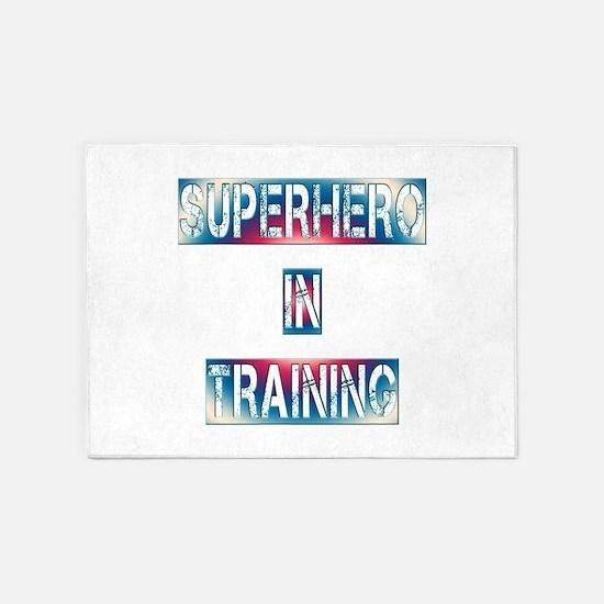 Superhero in Training 5'x7'Area Rug