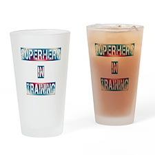 Superhero in Training Drinking Glass