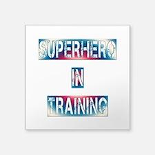 "Superhero in Training Square Sticker 3"" x 3"""