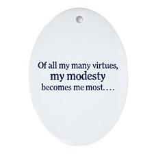 My Modesty -  Oval Ornament