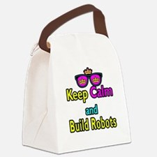 Crown Sunglasses Keep Calm And Build Robots Canvas