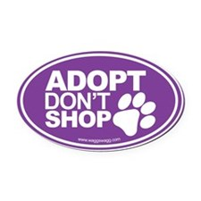 Adopt Don't Shop EURO Oval Stickers Oval Car Magne