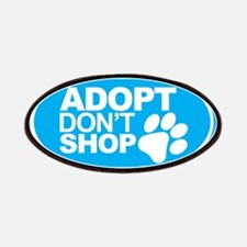 Adopt Don't Shop EURO Oval Stickers Patches