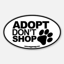 Adopt Don't Shop EURO Oval Stickers Sticker (Oval)