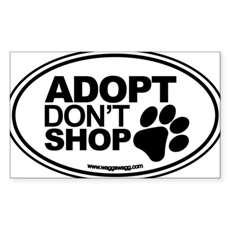 Adopt Don't Shop EURO Oval Stickers Sticker (Recta