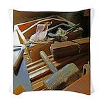 carpenter tools 2.png Woven Throw Pillow