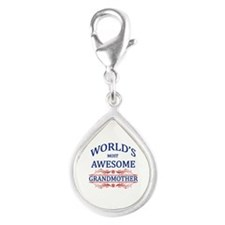 World's Most Awesome Grandmother Silver Teardrop C