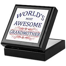 World's Most Awesome Grandmother Keepsake Box