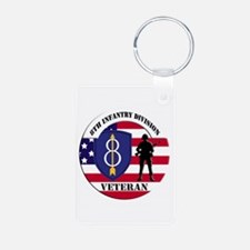 8th Infantry Division Keychains