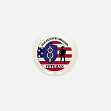 8th Infantry Division Mini Button