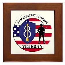 8th Infantry Division Framed Tile