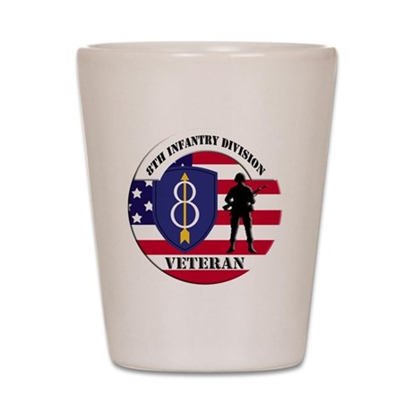 8th Infantry Division Shot Glass