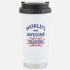 World's Most Awesome Grandma Stainless Steel Trave