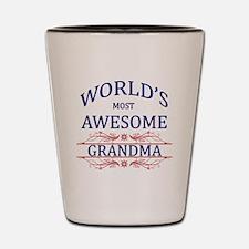 World's Most Awesome Grandma Shot Glass