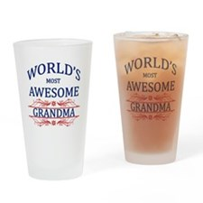 World's Most Awesome Grandma Drinking Glass