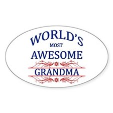 World's Most Awesome Grandma Decal