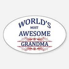 World's Most Awesome Grandma Sticker (Oval)